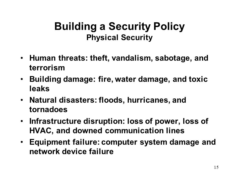 Information Management Security System Policy