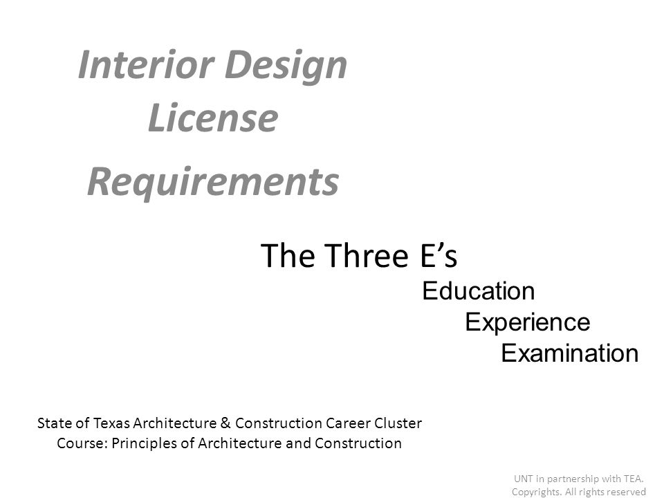 Interior Design License Requirements Ppt Video Online Download