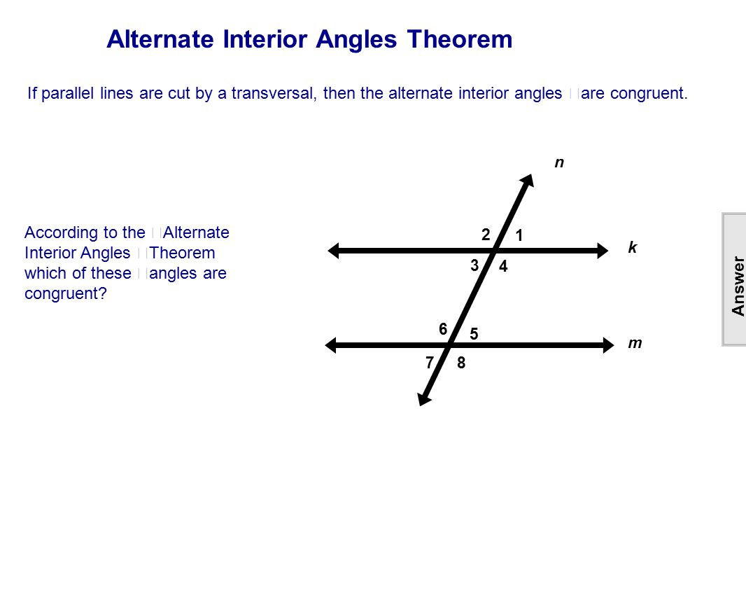 Table of Contents Lines Intersecting Parallel  Skew