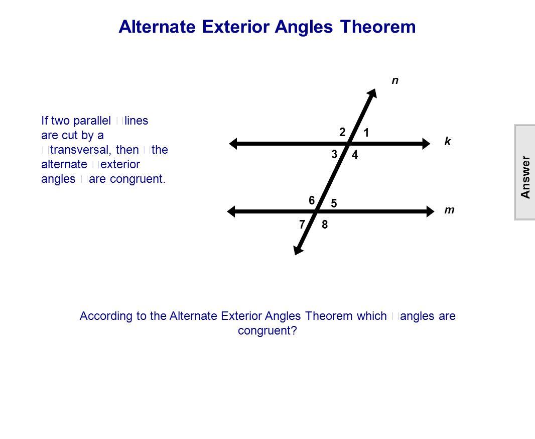 Worksheet Parallel Lines And Transversals Worksheet