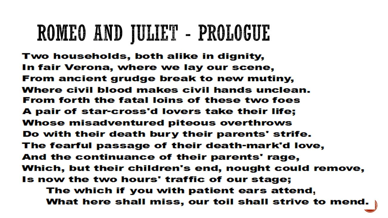 romeo and juliet prologue
