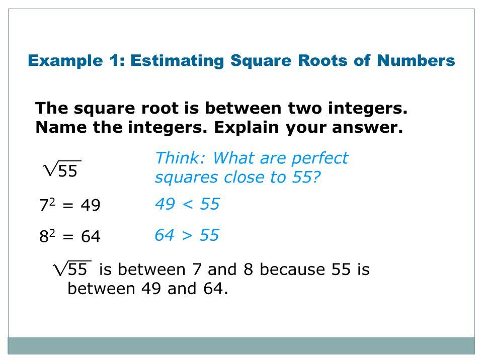 Printable Worksheets  Estimating Square Roots Worksheets