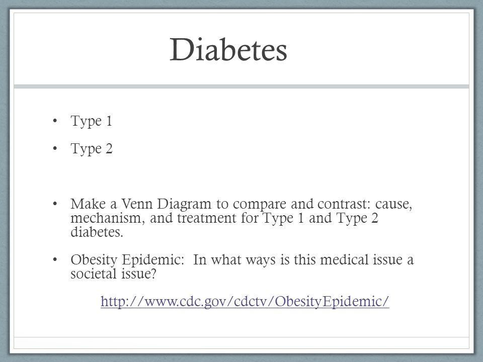venn diagram type 1 and 2 diabetes comparing dna rna