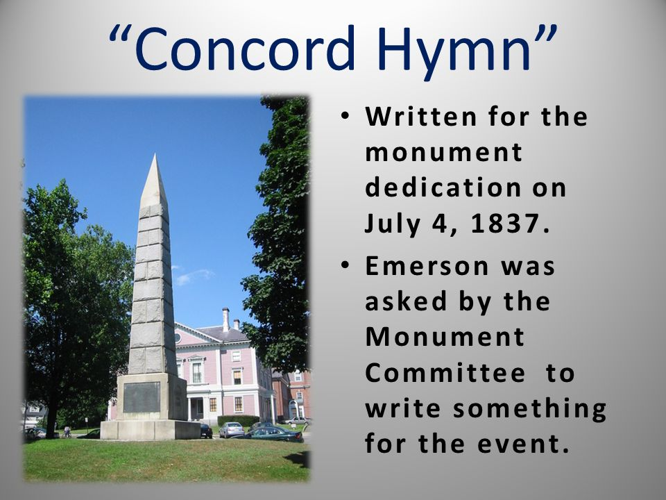 """Concord Hymn"" Ppt Video Online Download"