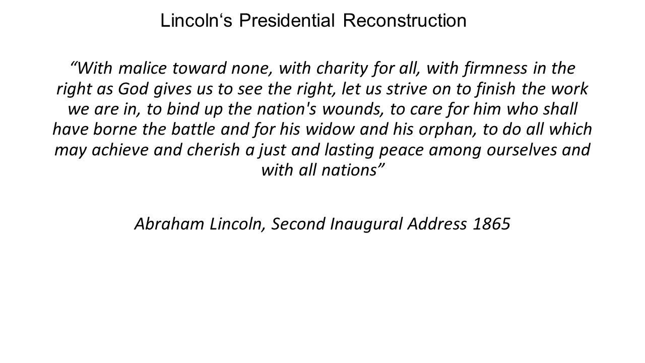 Presidential And Radical Reconstruction