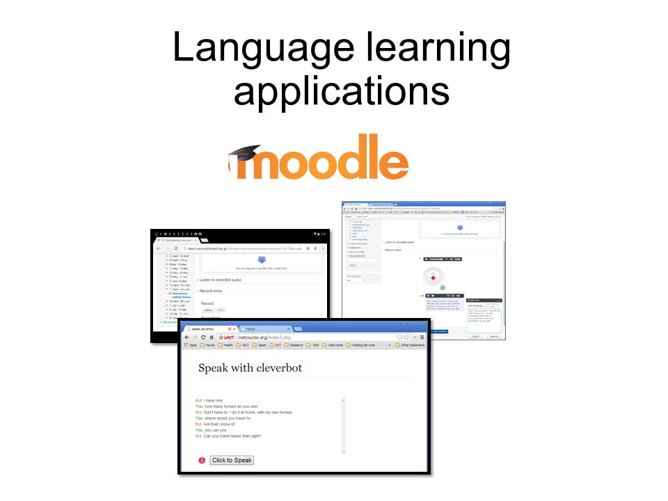 Using Google's Web Speech API with Moodle for language