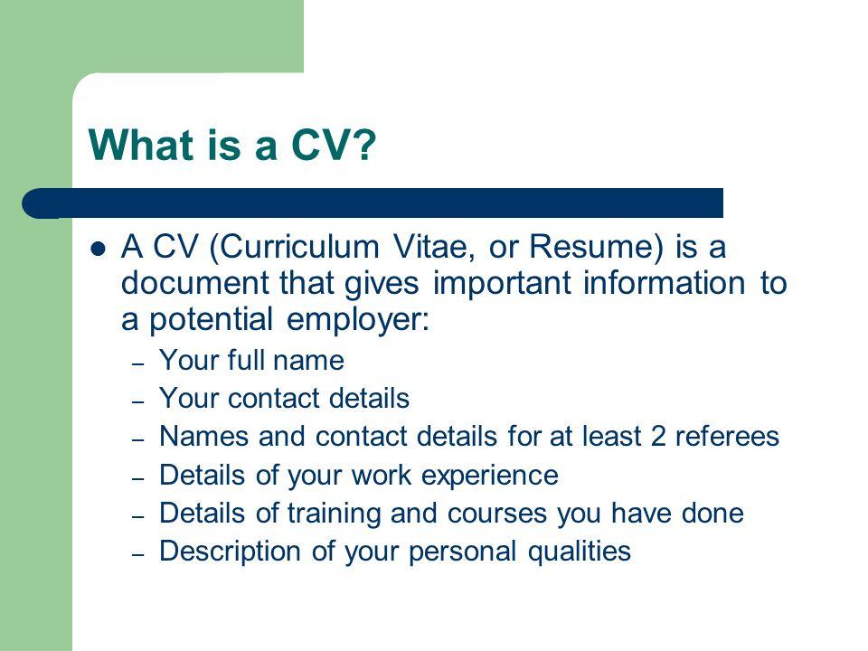Resume Writing Class Curriculum