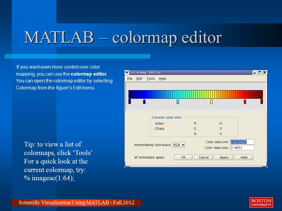 Matlab colormap blue to red