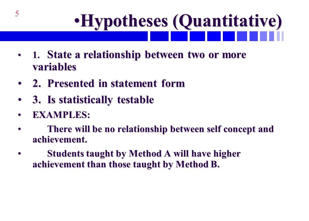Quantitative Research Paper Hypothesis