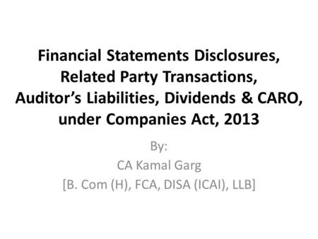 Notification dated 5th June 2015 Companies Amendment Act