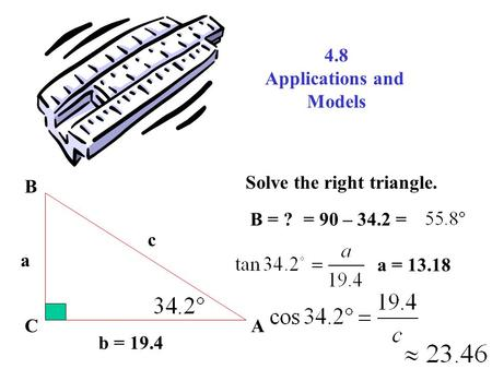 Chapter 4: Applications of Right Triangle Trigonometry