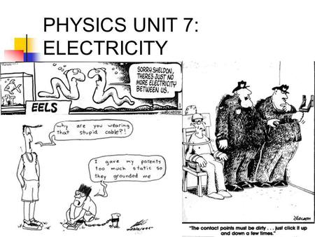 CHAPTER 11 ELECTRICITY. Electricity 11.1