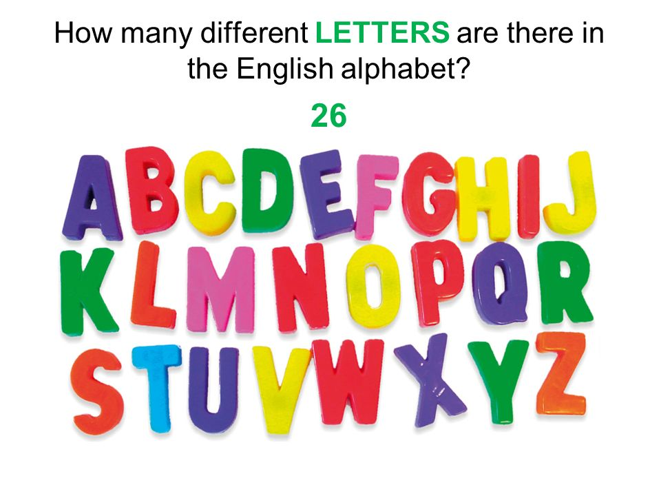 How Many Letters Alphabet