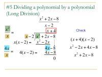Printable Worksheets  Dividing Polynomials Worksheets ...