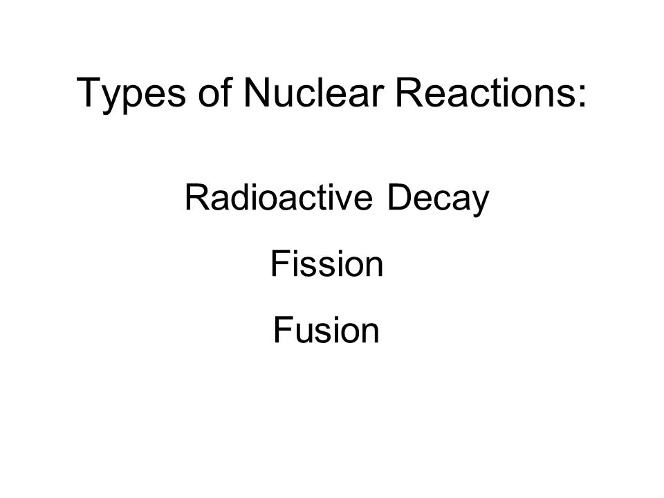 """Nuclear Reaction"""