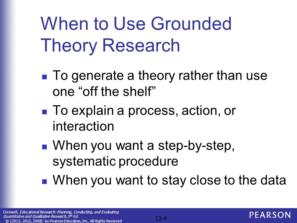 Chapter 13 Grounded Theory Designs  Ppt Video Online Download