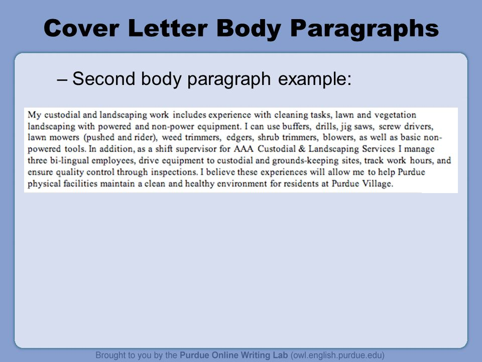 Cover Letter Workshop Rationale Welcome to the WorkOne Job Letters Workshop This