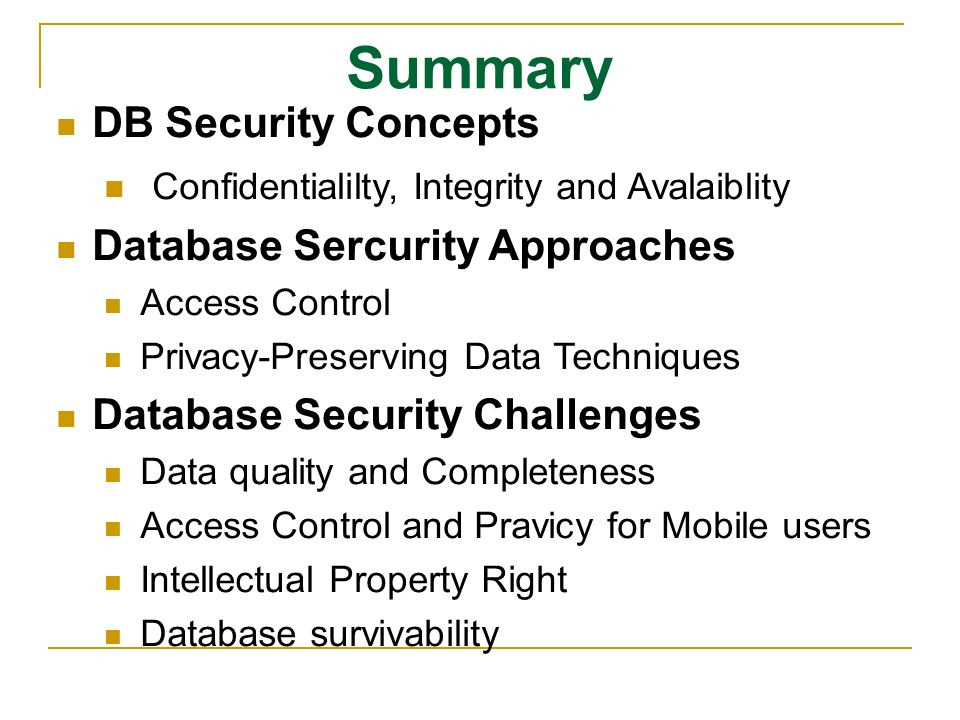 Database Security Navathe Ppt