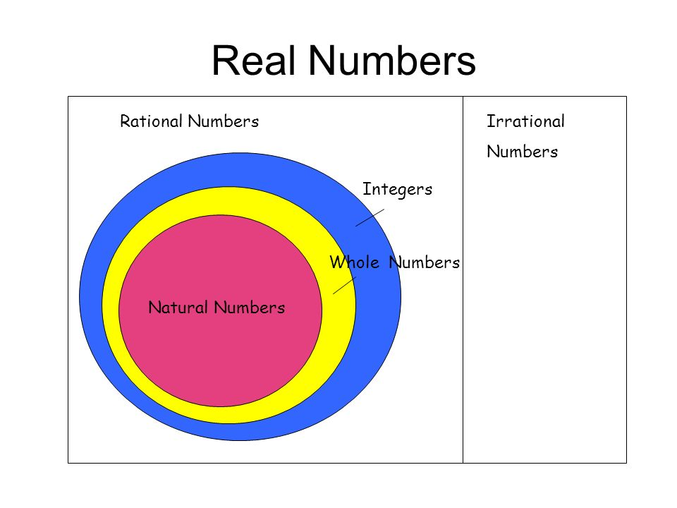 Whole Integers Real Natural Numbers