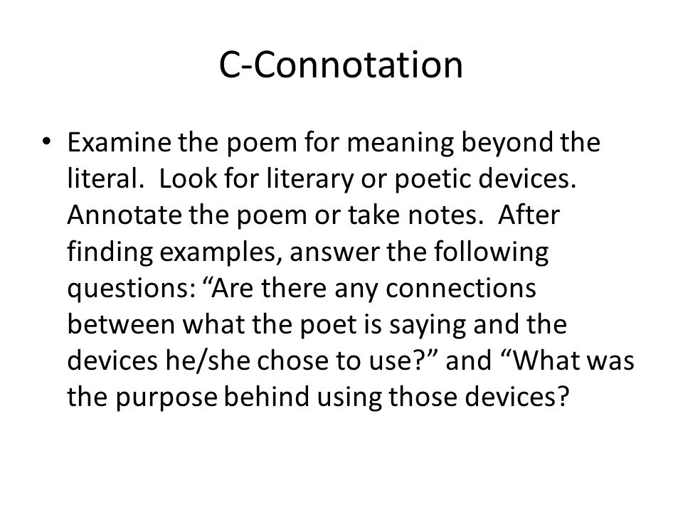 TPCASTT Poetry ANALYSIS Explanation And Assignment Ppt