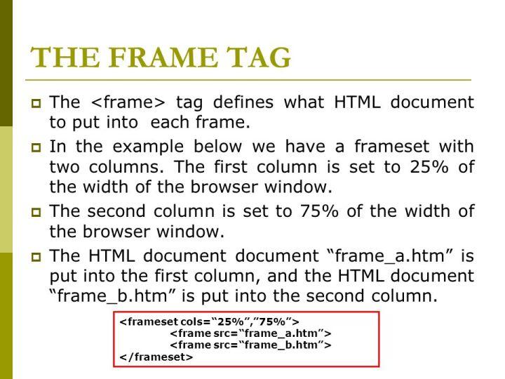 Frameset In Html Tag | Frameswall.co