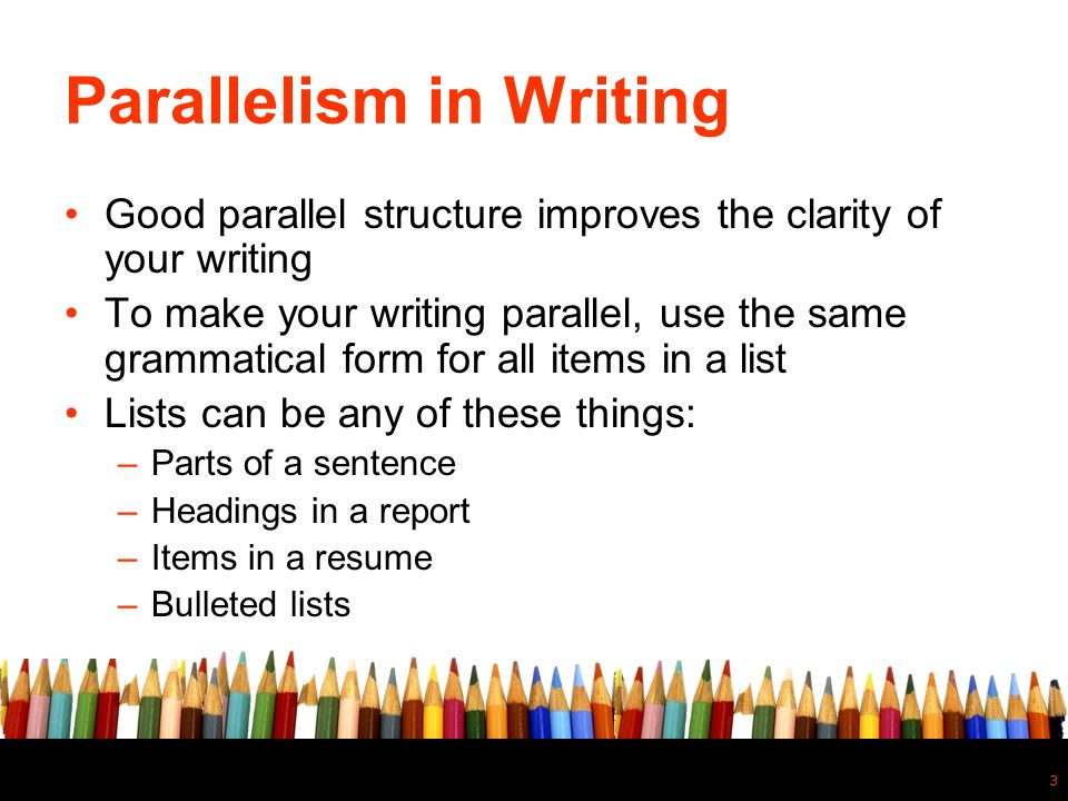 What Is Parallel Structure? Ppt Video Online Download
