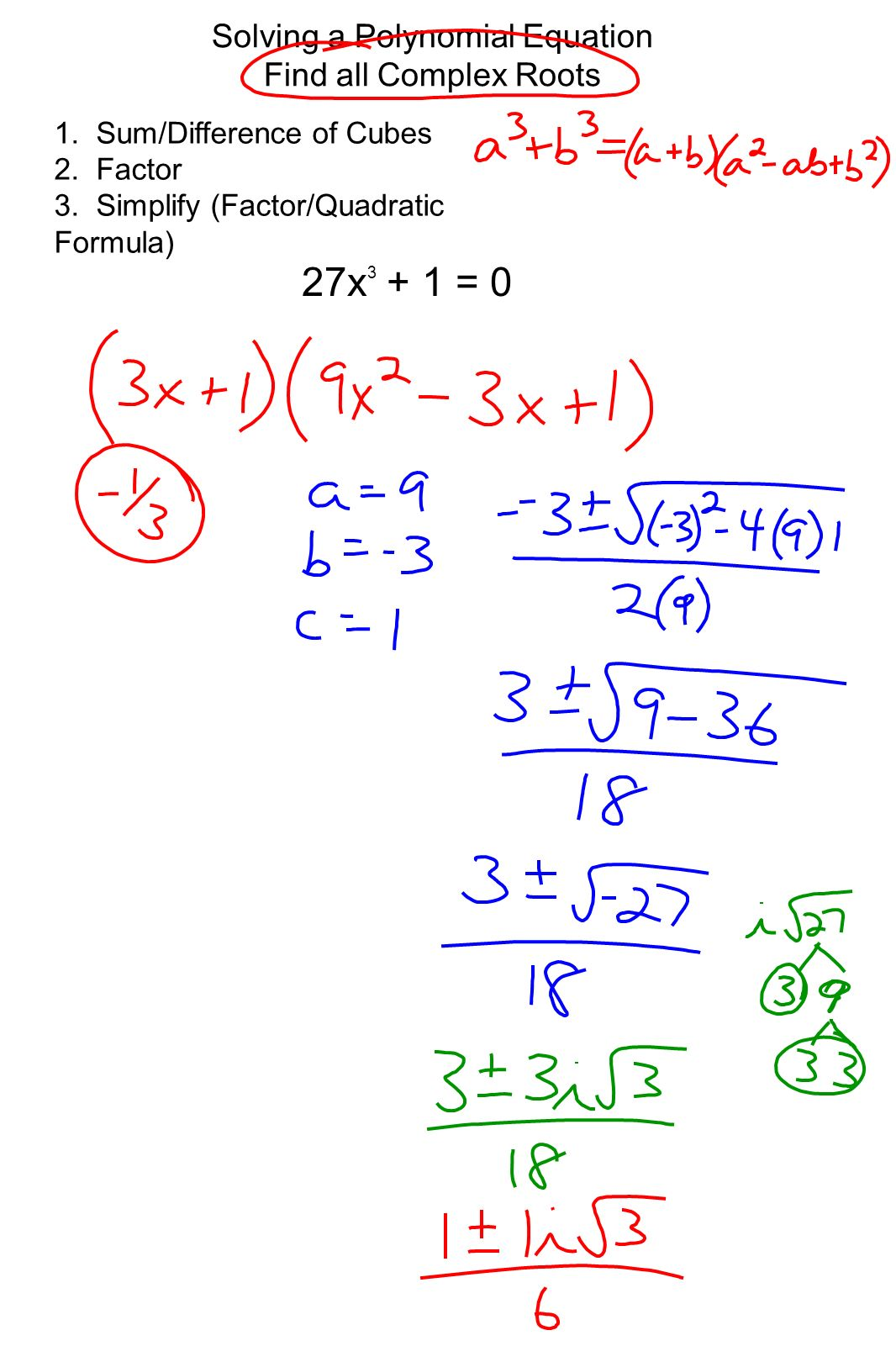 Algebra 2 Ch 6 Notes Page 43 P Solving Polynomial Equations