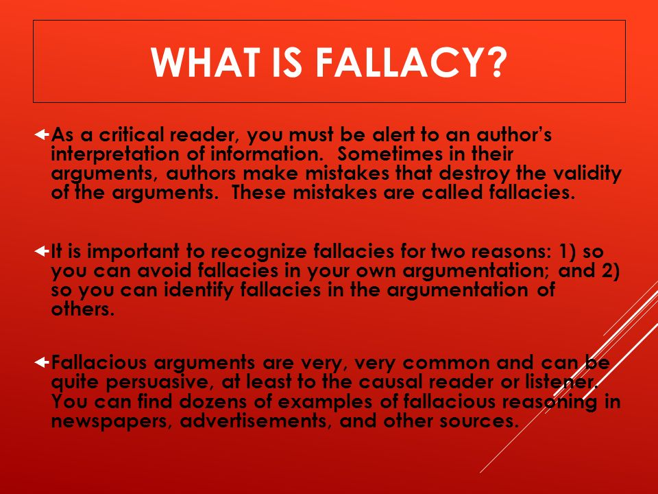 Fallacies What Not To Do In An Argument Ppt Video