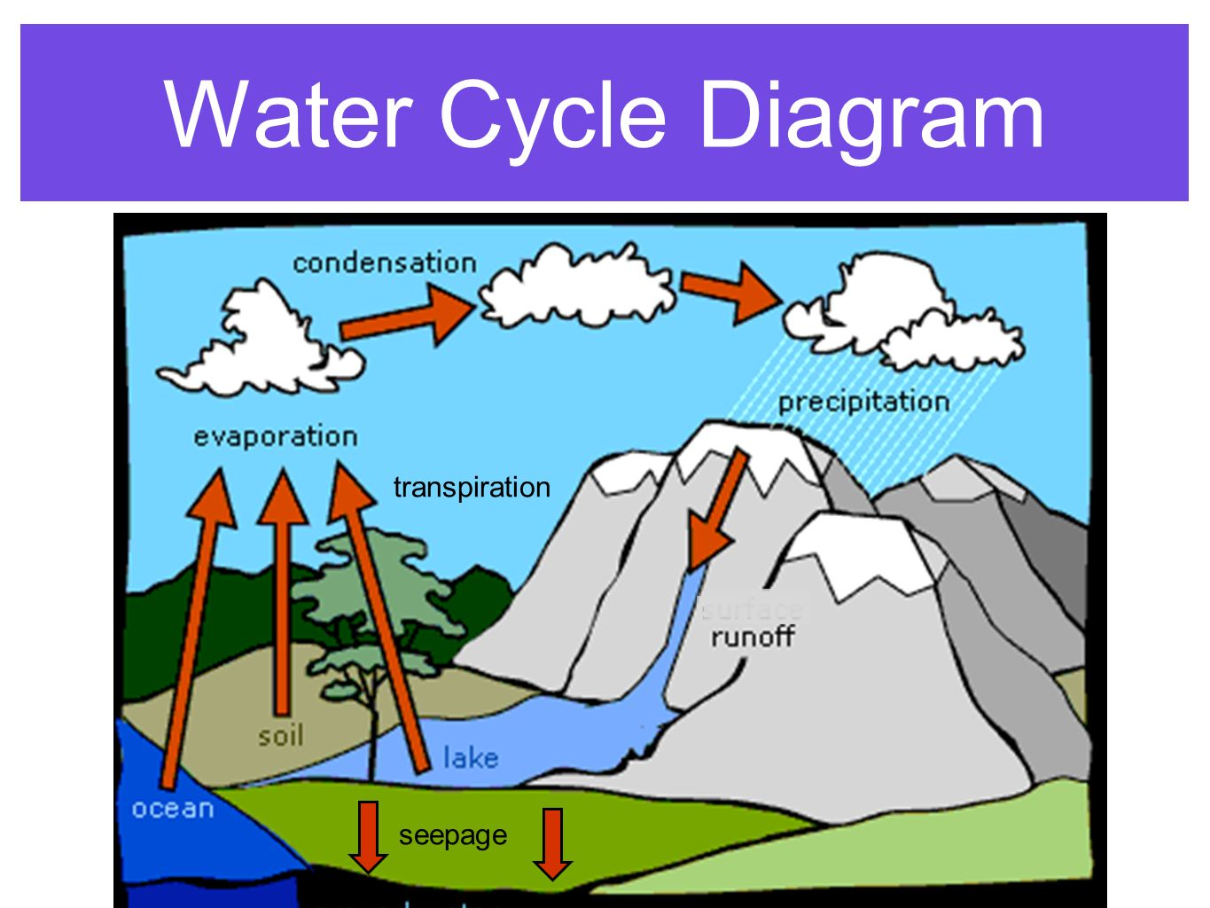 water cycle diagram with explanation 1988 chevy power window wiring the ppt video online download