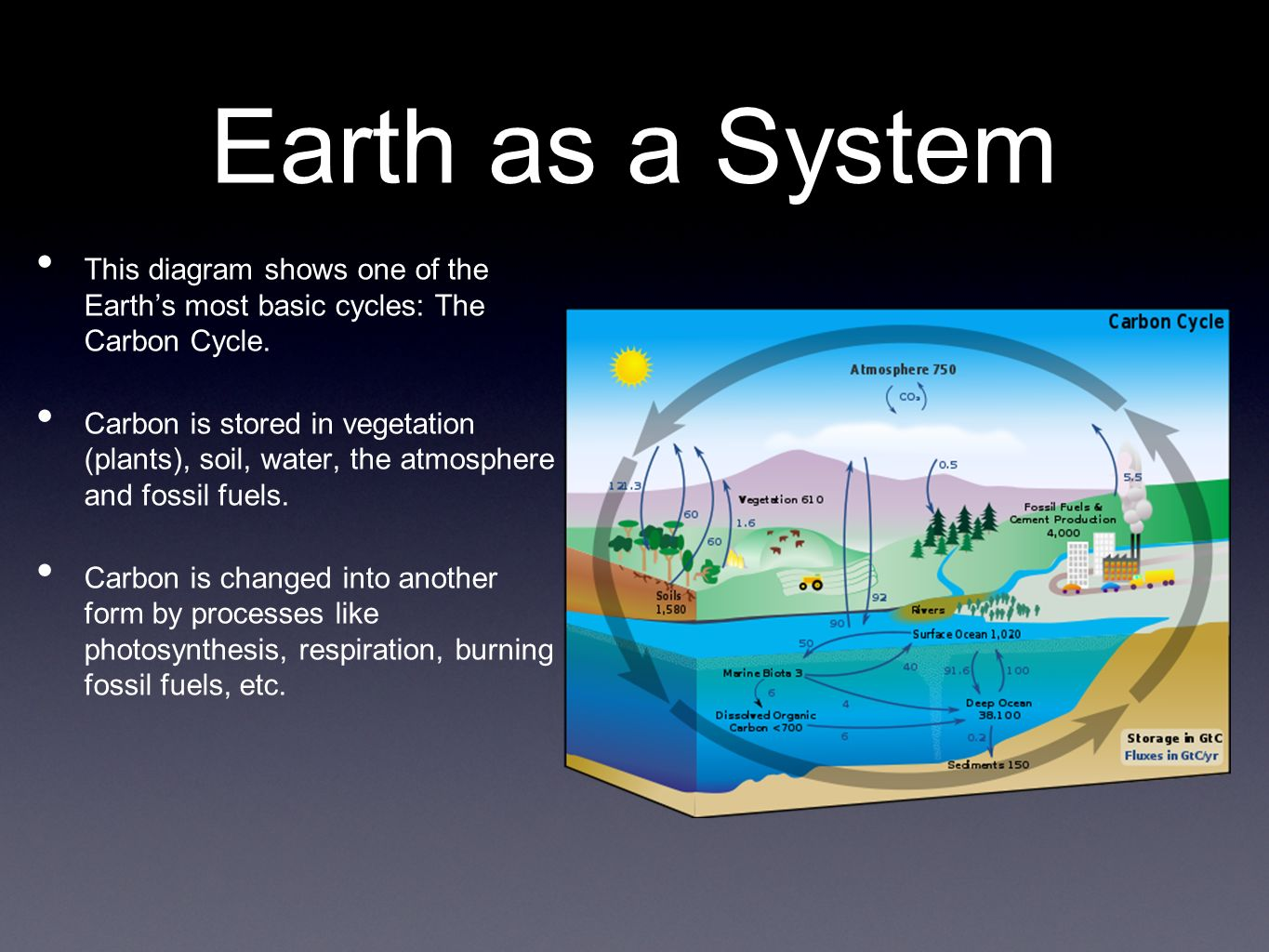 basic carbon cycle diagram car air horn wiring unit 2 system earth e2 1 the is a consisting