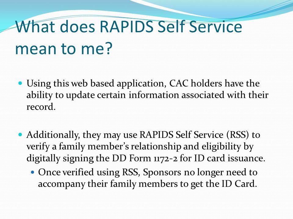 RAPIDS Self Service Portal  ppt video online download