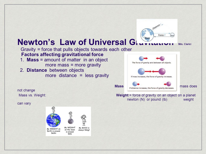 Worksheet Law Of Universal Gravitation Worksheet