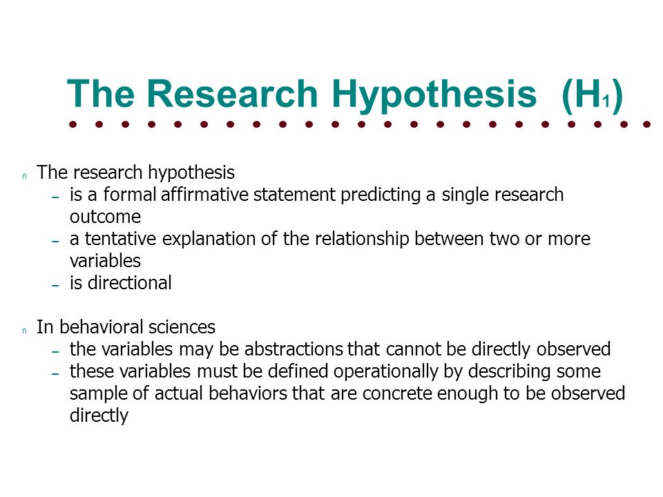 HYPOTHESIS TESTING Null Hypothesis And Research Hypothesis ? Ppt