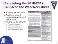 2016 2016 Fafsa On The Web Worksheet