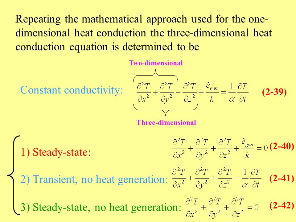 Chapter 2 Heat Conduction Equation Ppt Video Online