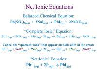 Net Ionic Equations Chemistry Worksheet - Kidz Activities