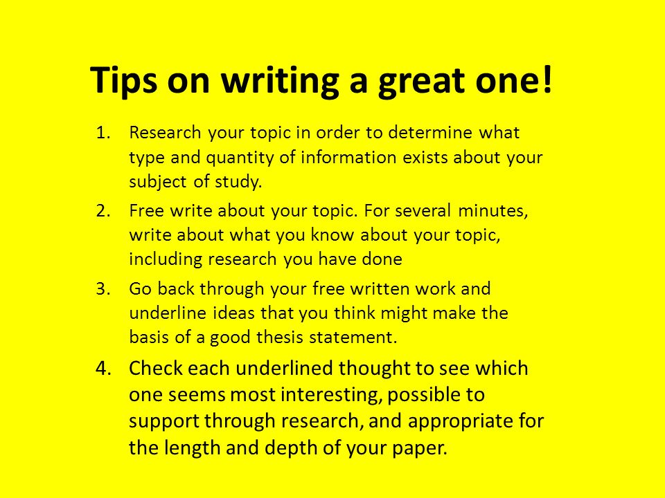 How to Write a Thesis Statement The Good and The Bad