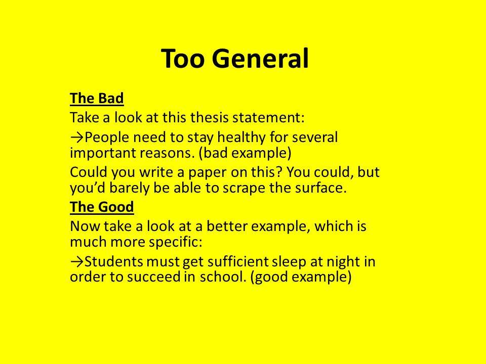 How to Write a Thesis Statement The Good and The Bad  ppt video online download