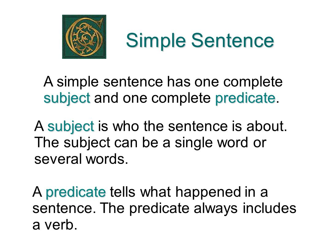 simple subject and verb diagram land rover discovery 3 trailer wiring compound complex sentences ppt download