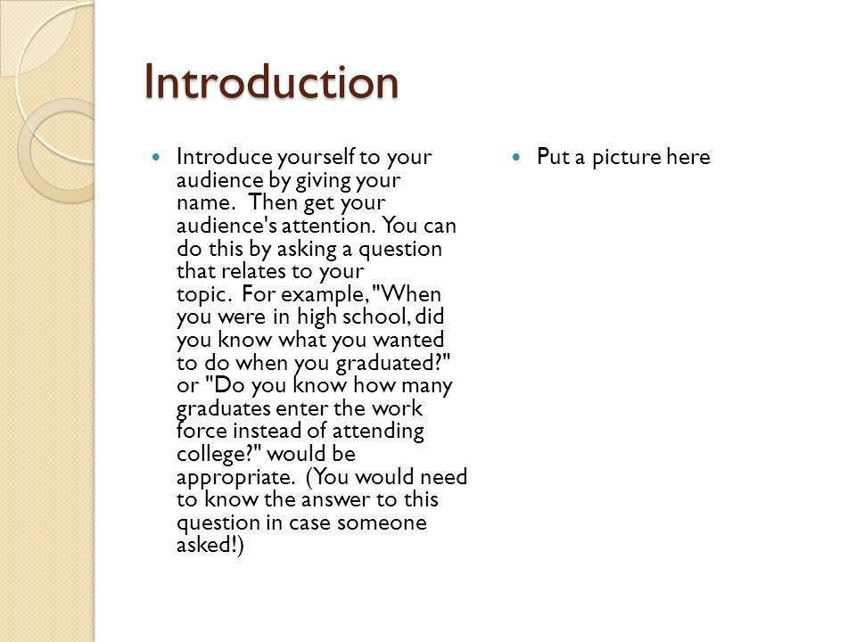Prepared Speech By Put Your Name Here Ppt Video