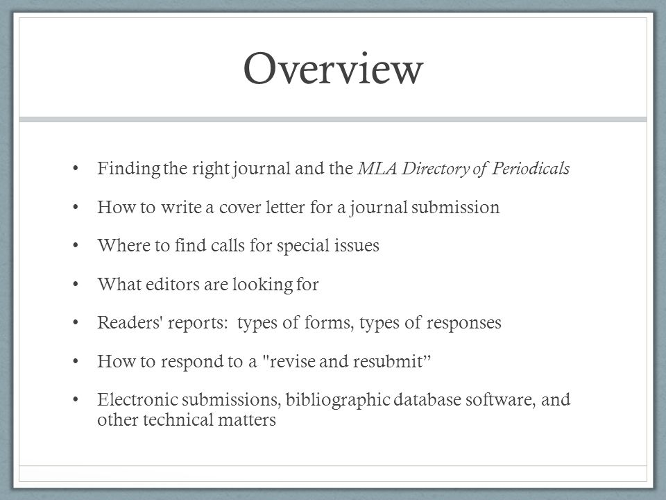 Journals and Manuscript Submissions  ppt video online download