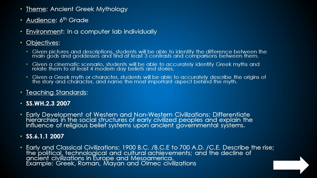 hight resolution of Theme: Ancient Greek Mythology Audience: 6th Grade - ppt download