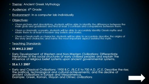 small resolution of Theme: Ancient Greek Mythology Audience: 6th Grade - ppt download