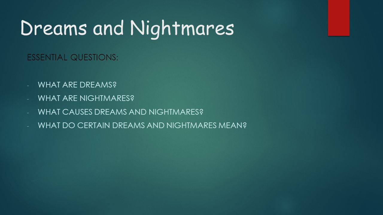 Dreams And Nightmares Fifth Grade Ppt Video Online Download
