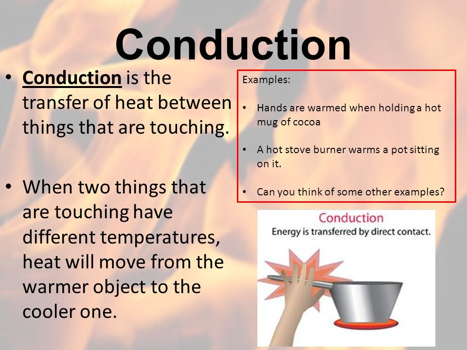The Transfer Of Heat Ppt Video Online Download
