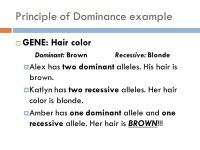 Dominant Genes Hair Color | www.pixshark.com - Images ...