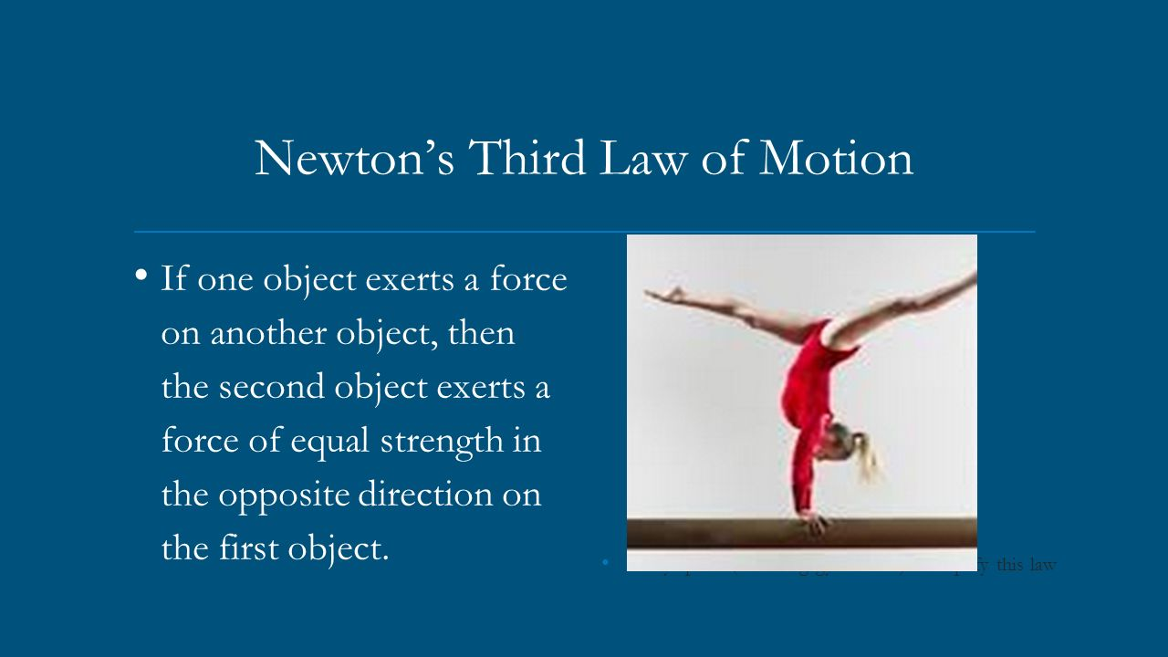 Gymnastics 3 Laws Motion Examples