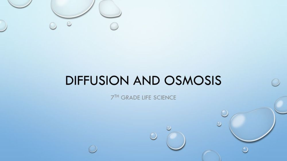 medium resolution of Diffusion and osmosis 7th grade Life Science. - ppt video online download