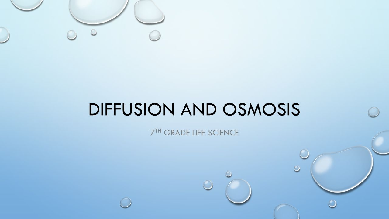 hight resolution of Diffusion and osmosis 7th grade Life Science. - ppt video online download