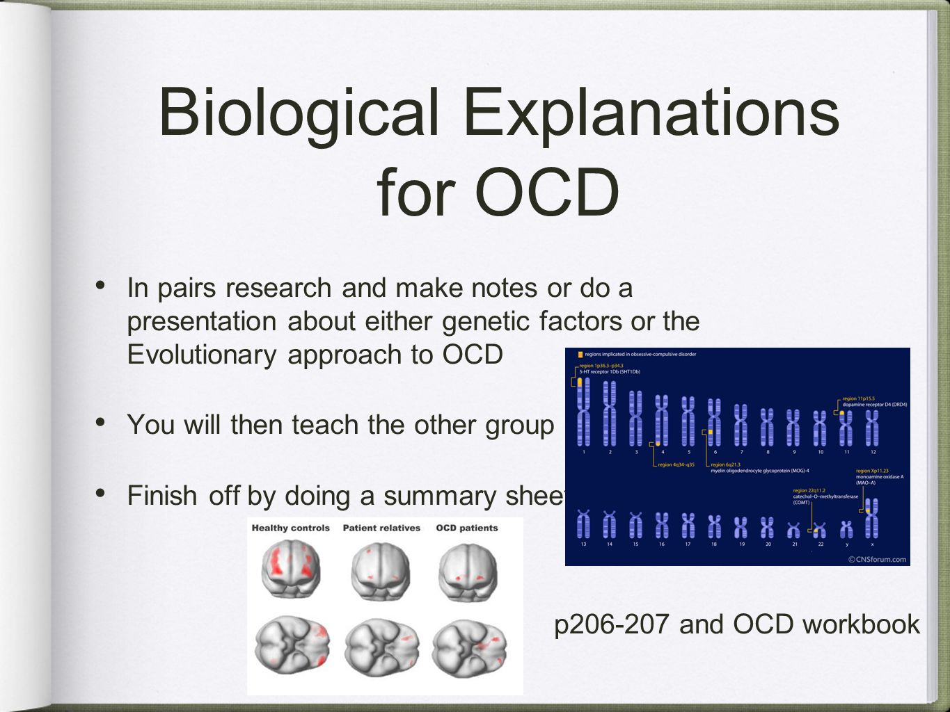 Biological Explanations And Treatments For Ocd